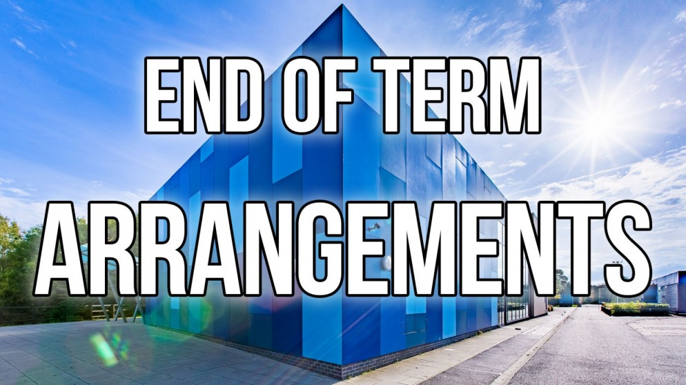 Last Day of Term Arrangements: Friday 18 December 2020